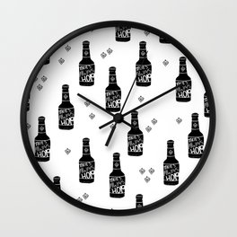 There's always hope beer bottle hop love monochrome Wall Clock