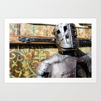 The Knight of Flowers Art Print
