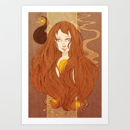 Tangled Earth Art Print