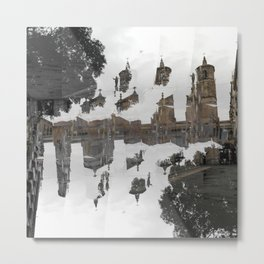 Creases interspersed with adjacent disconnections. [C] Metal Print
