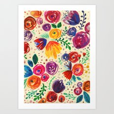 Summer Fruits Floral Art Print