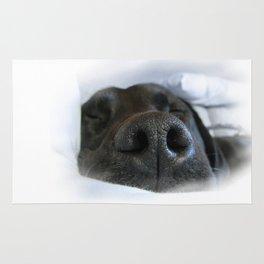 sleeping dog Rug