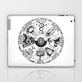 Wiccan Wheel Of The Year Laptop & iPad Skin