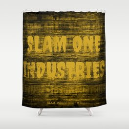 Slam 1 Industries Dirty Gold Shower Curtain