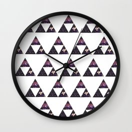 Floral Triforce Wall Clock