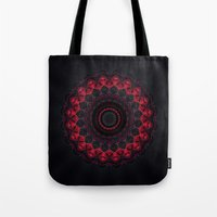 skyfall Tote Bags featuring Skyfall by Mr. Pattern Man