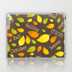 Fall Leaves Pattern Laptop & iPad Skin