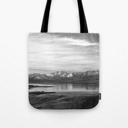 Lake Tekapo New Zealand-Black and White Tote Bag
