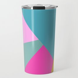 Geometric Color Block #11 Brights Travel Mug