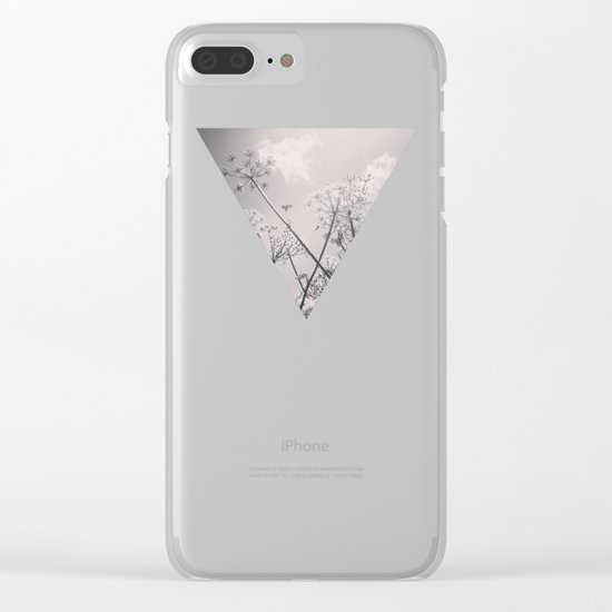 Cow Parsley Clear iPhone Case