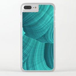 Turquoise Sediment Clear iPhone Case