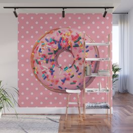Pink Donut Wall Mural