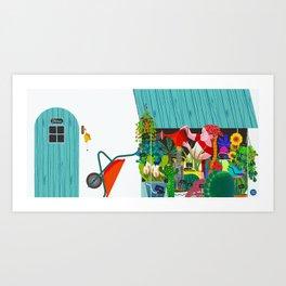 FLOWERSHOP Art Print