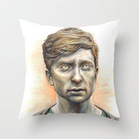 kieren walker Throw Pillows featuring Kieren Walker by laya rose
