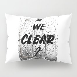 Are We Clear Pillow Sham