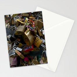 Lovers locks Stationery Cards