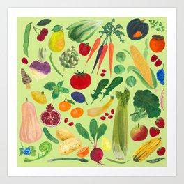 Fruits and Veggies Art Print