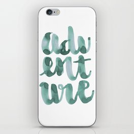 Adventure Green Watercolor iPhone Skin