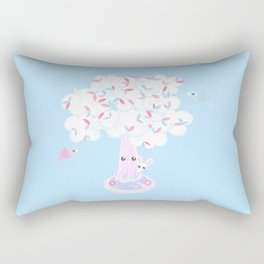 Kawaii Tree Clouds Rectangular Pillow