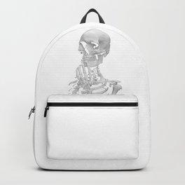 Thinking Skeleton (Black and White) Backpack
