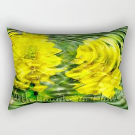 """Earth Laughs in Flowers"" by Artist McKenzie http://www.McKenzieArtStudio.com Rectangular Pillow"