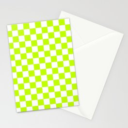 Checker (Lime/White) Stationery Cards