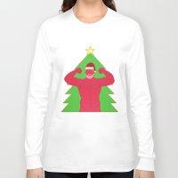 santa Long Sleeve T-shirts featuring Santa by Mavekk