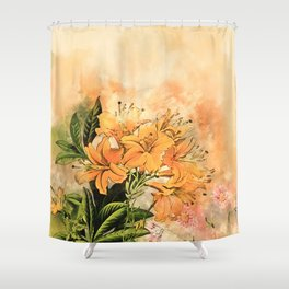 Growing Up #floral #society6 #watercolor Shower Curtain