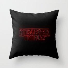 Strange thing Throw Pillow