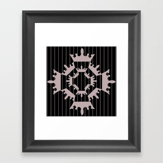 crown repeat 4 Framed Art Print