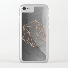 Geometric Solids on Marble Clear iPhone Case