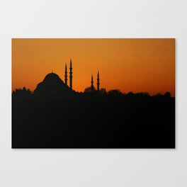 Istanbul Skyline Canvas Print
