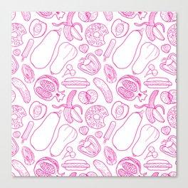 PillTalk - food pattern Canvas Print