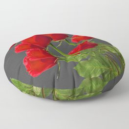 BOUQUET OF  RED LONG STEM ROSES  DESIGN Floor Pillow