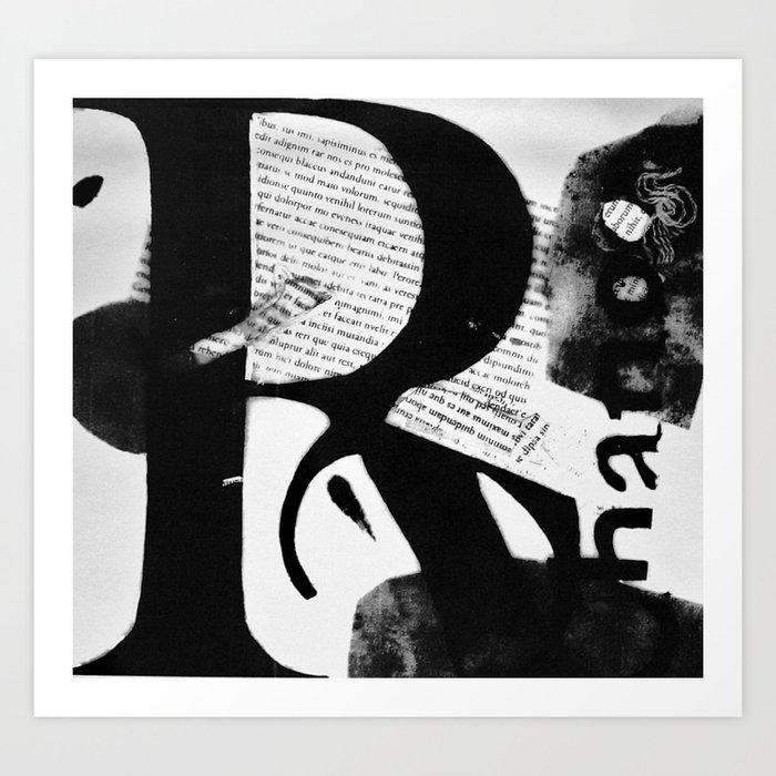 Letter Art Print.Abstract Letter Art 01 Art Print By Christinarodriguez