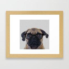 Geek Pug Framed Art Print