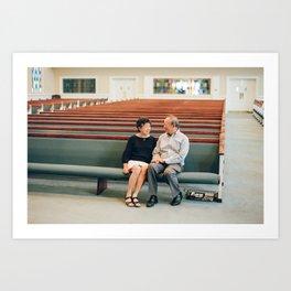 Gilroy and Sally in Church Art Print