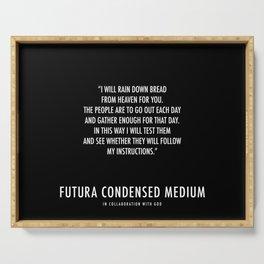 Futura Condensed Medium Serving Tray Serving Tray