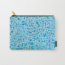 Blue Turquoise Mosaic Tile Carry-All Pouch