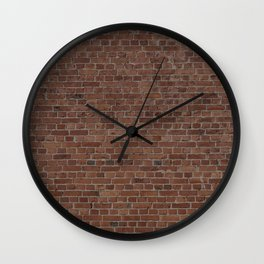 NYC Big Apple Manhattan City Brown Stone Brick Wall Wall Clock