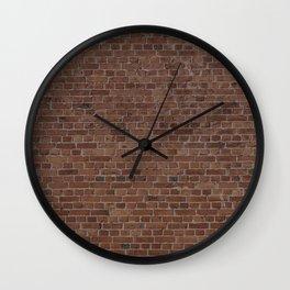 NYC Big Apple Manhattan City Brown Stone Brick Wall Wall Clock