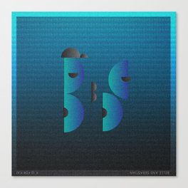 Music in Monogeometry : Belle & Sebastian Canvas Print