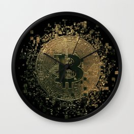 Bitcoin cryptocurrency blockchain Wall Clock