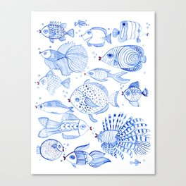 Fish Kiss Canvas Print