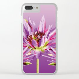 Lotos Flowers violet II Clear iPhone Case
