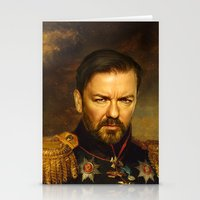 replaceface Stationery Cards featuring Ricky Gervais - replaceface by replaceface