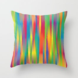 Paint Yourself In Stripe Throw Pillow
