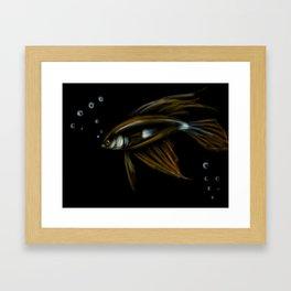 18- Shiny Fish & bubbles Framed Art Print