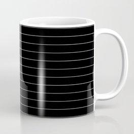 Black And White Pinstripe Line Stripe Minimalist Stripes Lines Coffee Mug