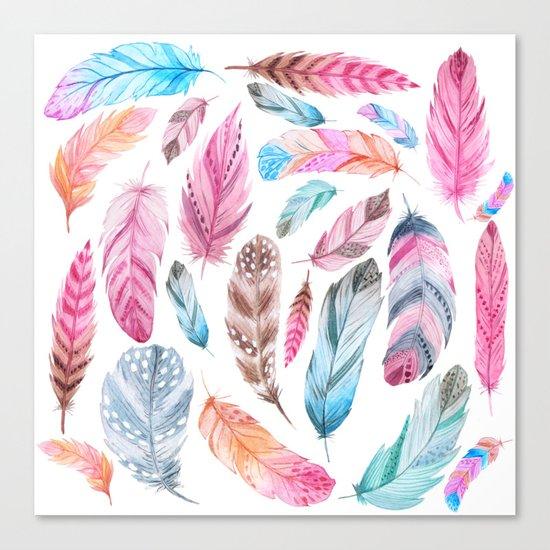 Watercolor coton Canvas Print